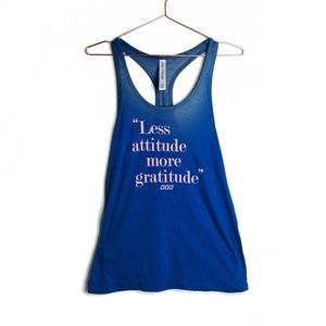 NWOT Lorna Jane Blue Graphic Tank Top XS